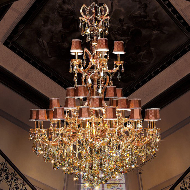Modern Classic Maria Theresa Crystal Chandelier Big Hanging Lighting Large Cristal Glass Chandeliers Light For Home