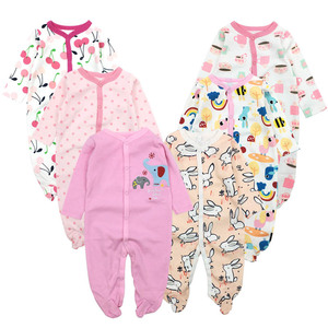 Image 4 - 6pieces/lot Baby rompers Newborn Baby Girls Boys Clothes 100% Cotton Long Sleeves Baby Pajamas Cartoon Printed Babys Sets