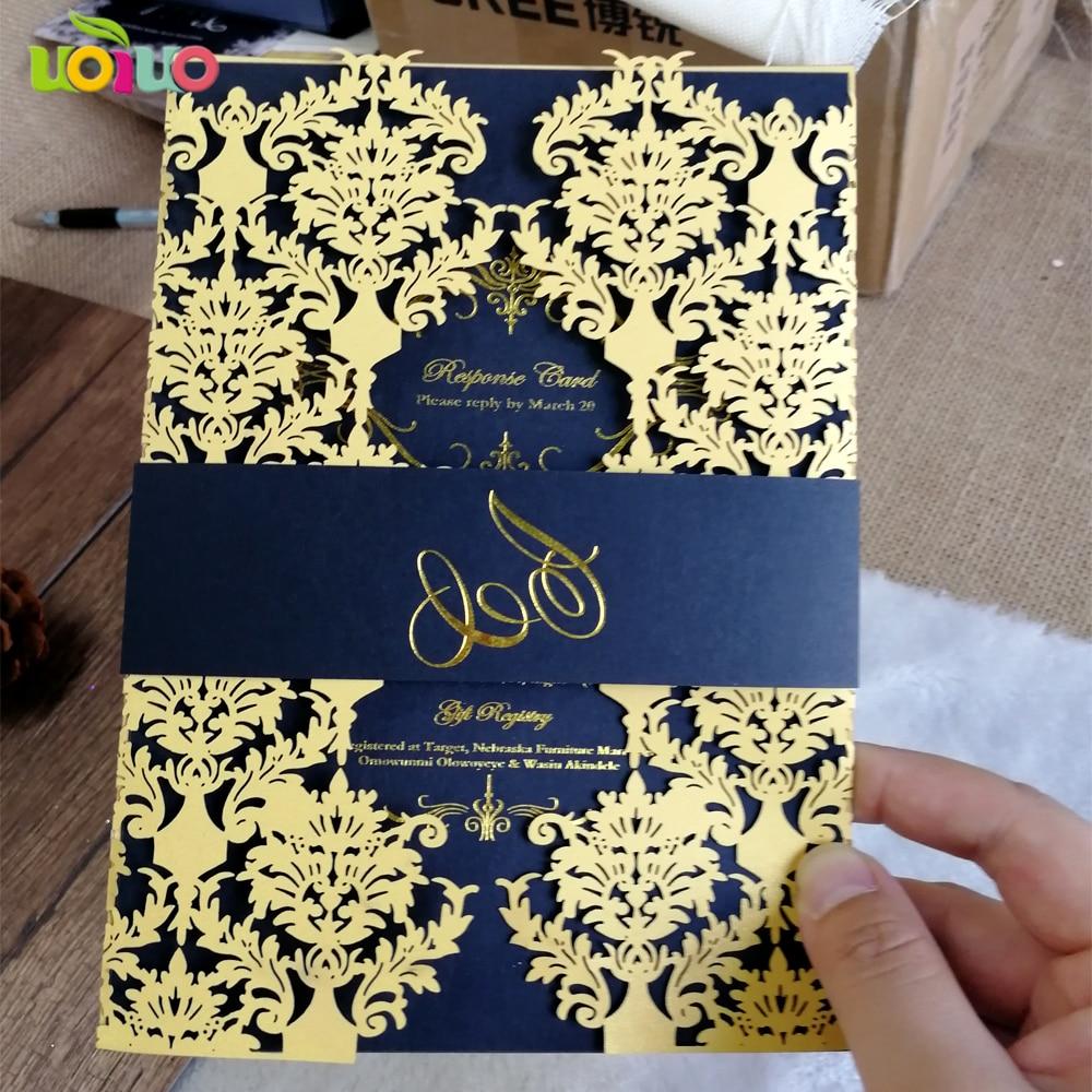 Wedding Laser Cut Invitations: High Quality 190*128mm Laser Cut Wedding Invitation Card