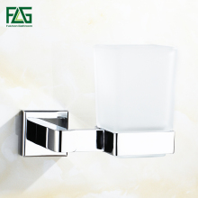 FLG Cup & Tumbler Contemporary  Holders Toothbrush Holder Glass Square Bathroom Accessories Wall