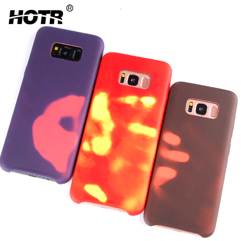 uk availability 330e3 d58d7 US $4.27 |HOTR For Samsung Galaxy S8 Case Thermal Sensor Case For Samsung  Galaxy S8 TPU Thermal Discoloration Soft Cover Protective Shell-in Fitted  ...