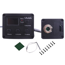 Ukulele Pickup Preamp 3-Band EQ Equalizer Tuner System Ukelele Uke Piezo Chromatic tuner with LCD Display(China)