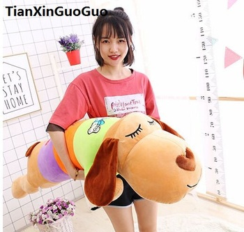 stuffed toy large 120cm cartoon prone dog plush toy coloured design lovely dog soft sleeping pillow Valentine's Day gift w2570
