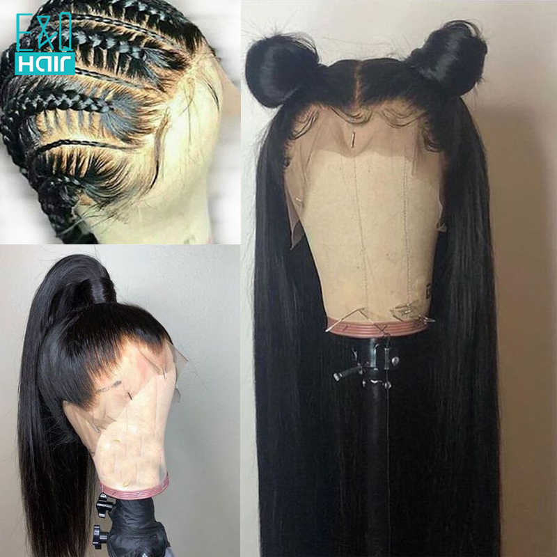 250% Silk Base 360 Lace Frontal Wigs Human Hair Peruvian Remy Glueless Wigs for Black Women Straight Wave Made Silk Top Wig