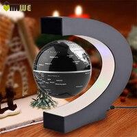 UK US EU Plug C Shape LED Tellurion Magnetic Levitation Globe World Map Floating Antigravity Globe