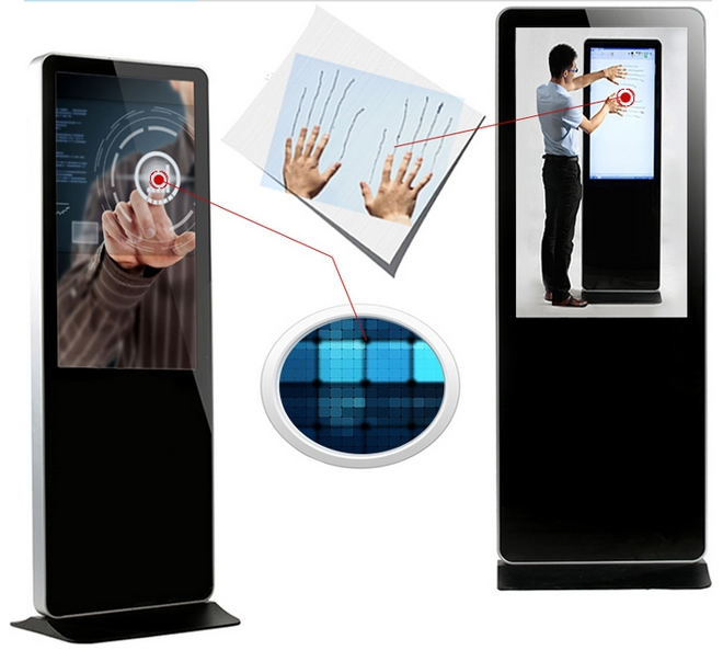 42/46/55inch 4K Lcd Touch Screen Display Digital Signage Totem,Indoor Totem Touch Screen Monitor Display