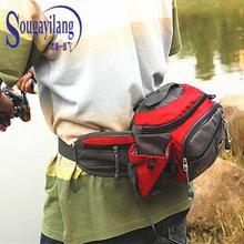 Hot! Outdoor Bag Multifunction Waterproof Fishing Tackle Reel Line Lure Bag Polyester Fishing Bag Ferramentas de pesca