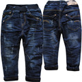 3998 little loose little harem winter boy warm jeans boys pants denim+fleece double-deck thick  kids winter jeans trousers kids