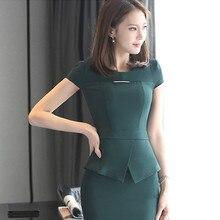 S-3XL Women's T-Shirt Skirt Suits Summer 2016 Fashion Elegant Office Ladies Slim Thin Business Work Overalls Female Silk scarf