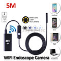 8mm WIFI Iphone Android Endoscope Camera HD720P 5M Flexible Snake USB IP67 Waterproof Inspection Tablet Borescope Android Camera