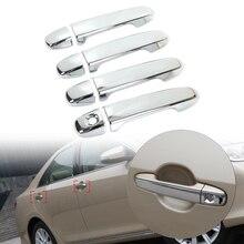 Dwcx новой пластмассы ABS Chrome 8 шт. дверные ручки крышки отделка, пригодный для Toyota Camry 2012 2013 2014