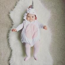 3D Unicorn Costume White Rompers Spring Autumn Cotton Sleeveless Newborn Tracksuit Baby Clothes