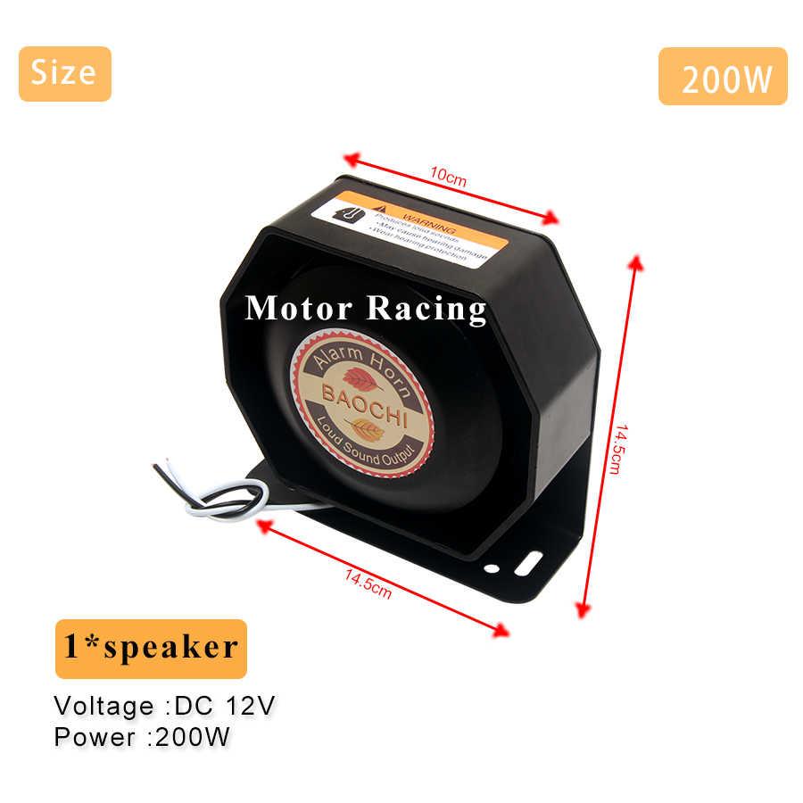 Авто MP3 сигнализация рог микрофон Система Автомобильный Динамик 400 Вт Аварийный мегафон полицейская сирена Предупреждение громкий динамик 12 В для грузовика поезд
