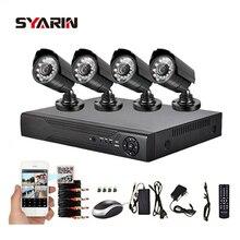 Syarin 4ch CCTV Системы полный 1080n видеорегистратор с 1800tvl 720 P наружного видеонаблюдения Камера комплект HD AHD 4 канала 1mp Камера s
