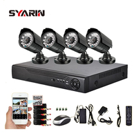 TEATE 4CH Full 1080N DVR With 1800TVL 720P Outdoor Security Surveillance Camera Kit HD AHD 4