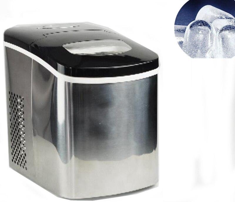 Livraison gratuite 30 Maquina De Hielo 15 kg/24 h balle sphère Machine à glaçons Machine pour la maison/commerciale tache en acier bloc faisant