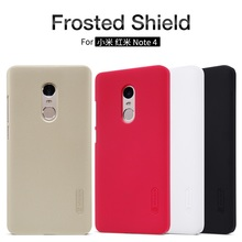 2017 NILLKIN case for xiaomi redmi note 4 Super Frosted Shield matte hard back cover for XiaoMi Redmi note 4 pro prime+free film