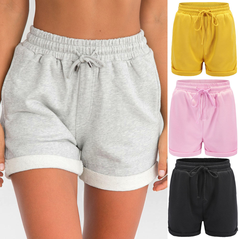 Womail Women   Short   Pant Hot Pants Casual Loose   Shorts   Beach Girl High Waist   Short   Trousers Lady 2019 Elastic Waist dropship j16