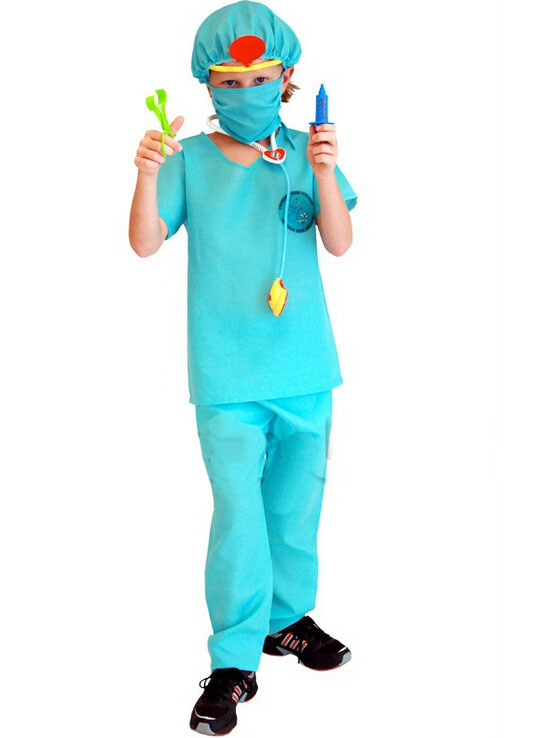 Free Shipping!!cosplay, Masquerade All Saints Party Game Performance Clothing, Children's Surgeon Costume