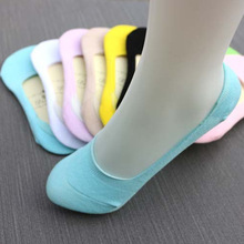 Мелкая summer non-slip невидимый корея рот носок силико симпатичные носки хлопок