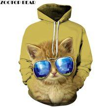 Sunglasses Cat 3D Printed Mens Pullover Sweatshirt Pullover