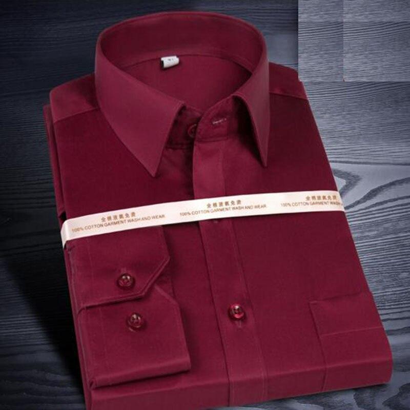 Classic Pure Cotton Silk Fashion Men Long Sleeve Formal Shirts