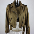 Зима толщиной замши бомбардировщик куртка женщин 2016 Осень значок bacic байкер пальто куртки Мода Топ теплый с длинным рукавом короткие пиджаки