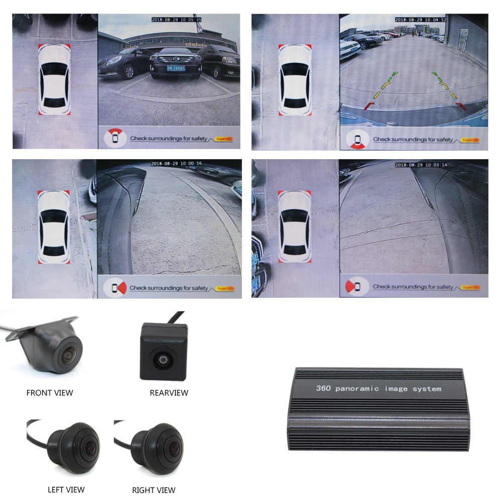 HD 360 панорамный обзор Вождение птица вид панорама DVR система 4 камера для машины DVR видео рекордер парковки Поддержка интеграции