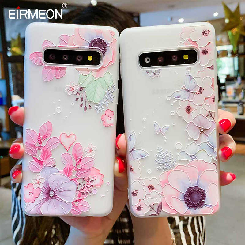 Case For Samsung Galaxy S10 Plus A30 A50 M10 M20 A7 A8 A6 J4 J6 EU Edition 2018 S8 S9 S10 J3 J5 J7 A3 A5 A7 2017 Flower Cases