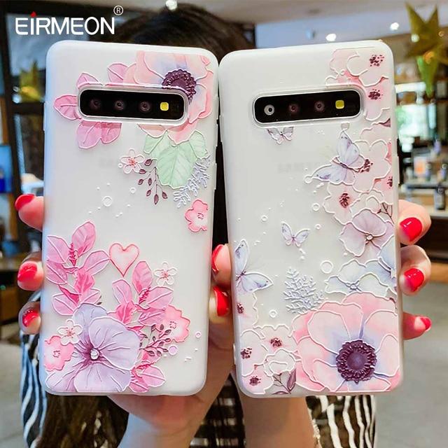 Case For Samsung Galaxy S10 Plus A30 A50 M10 M20 A7 A8 A6 J4 J6 EU Edition 2018 S8 S9 S10 J3 J5 J7 A3 A5 A7 2017 Flower Cases