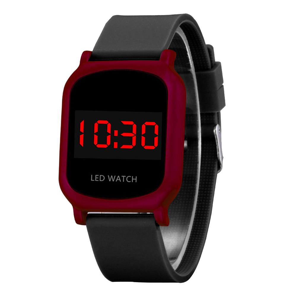 Boys Girls Students Digital Display LED Light Electronic Touch Screen Sports Wrist Watches