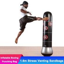 1.6m Adult Venting Fitness Inflatable Vertical Boxing Punching Bag Pillar Tumbler Children Inflatable Sandbags Spite Toys