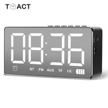 LED Bluetooth Wireless Double Alarm Table Clock Light Dark Adjustment FM Radio Alarm Clock Of Snooze Function Office Home Decor