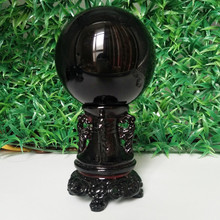 60/70/80mm Natural obsidian crystal ball home decoration diviner circular stone wedding photography accessories