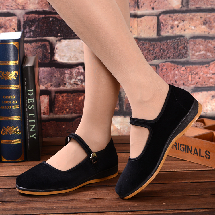 2017 Chinese Classic Flat Shoes Casual Shoes Ladies Women's Flats Rabbit Fur Shoes Women's Flats Oxfords  Womens Shoes 107