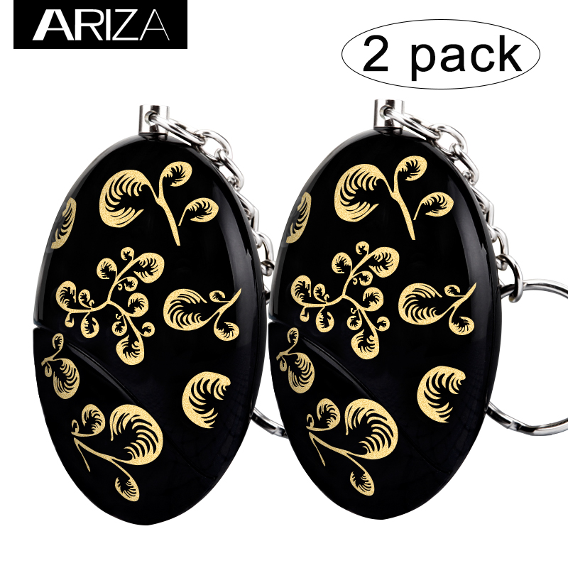 2018 Ariza 2 pack Self Defense Personal Alarm Keychain with gold color prnting for girls women and elderly security global elementary coursebook with eworkbook pack