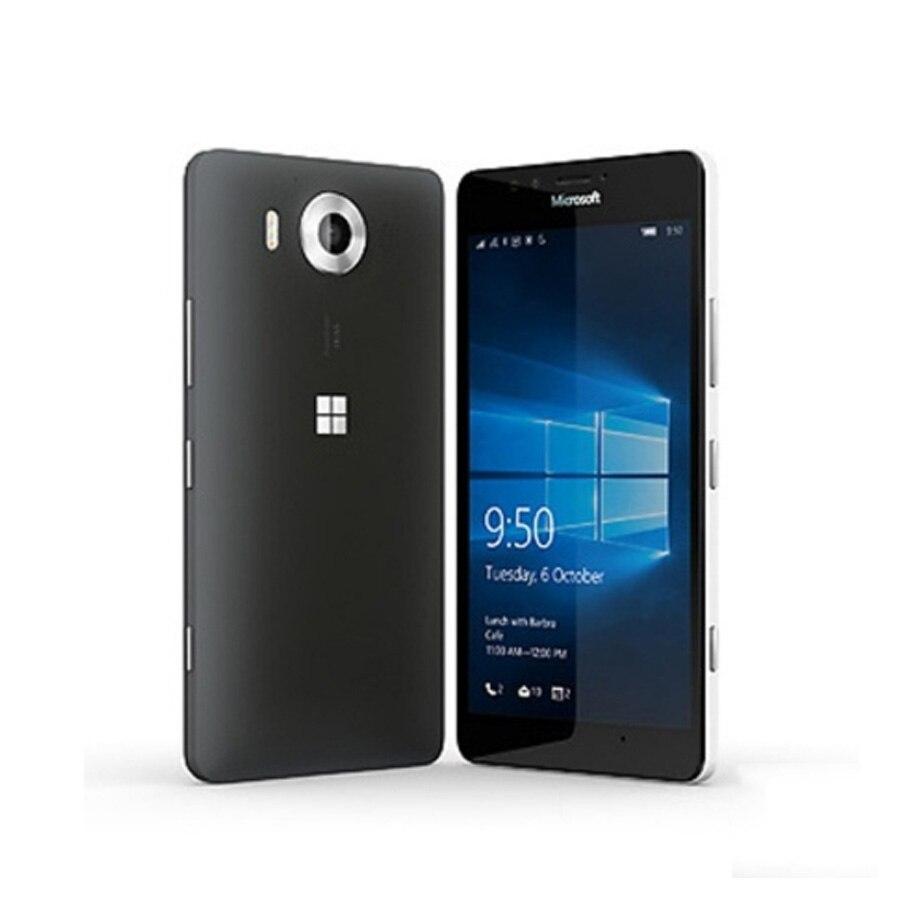 """オリジナル新 EU バージョンノキア Micr osoft Lumia 950 Rm 1104 携帯電話 4 4G LTE 5.2 """"3 ギガバイト 32 ギガバイト 20MP カメラ 3000 単 SIM Smar  グループ上の 携帯電話 & 電気通信 からの 携帯電話 の中 1"""