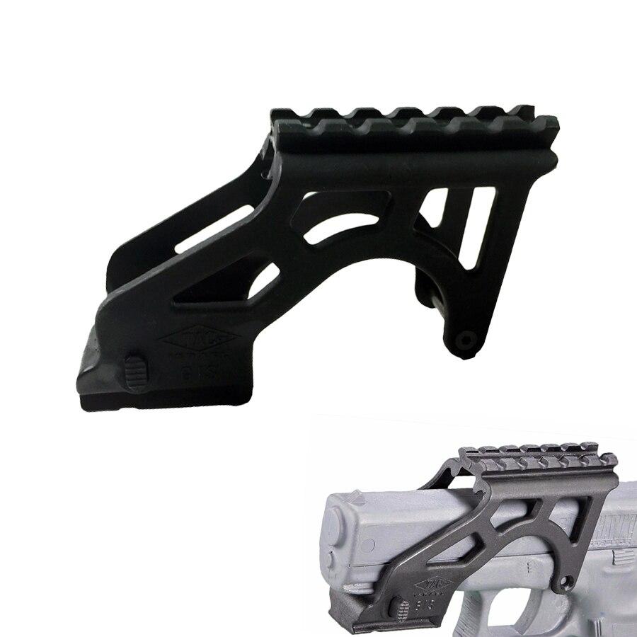 Tactical Hand Gun Pistol Accessory Glo k Scope Laser Flashlight Mount Light Weight Polymer For Glock
