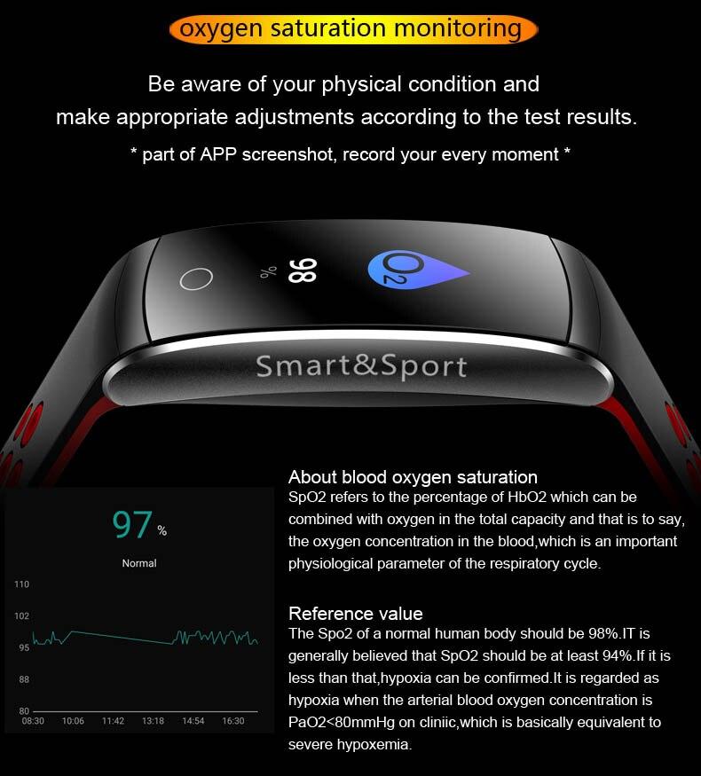 U17 HD Color pantalla inteligente pulsera dinámica Frecuencia Cardíaca presión arterial oxígeno banda inteligente para Huawei Mate RS 10 pro S 9 8 - 6