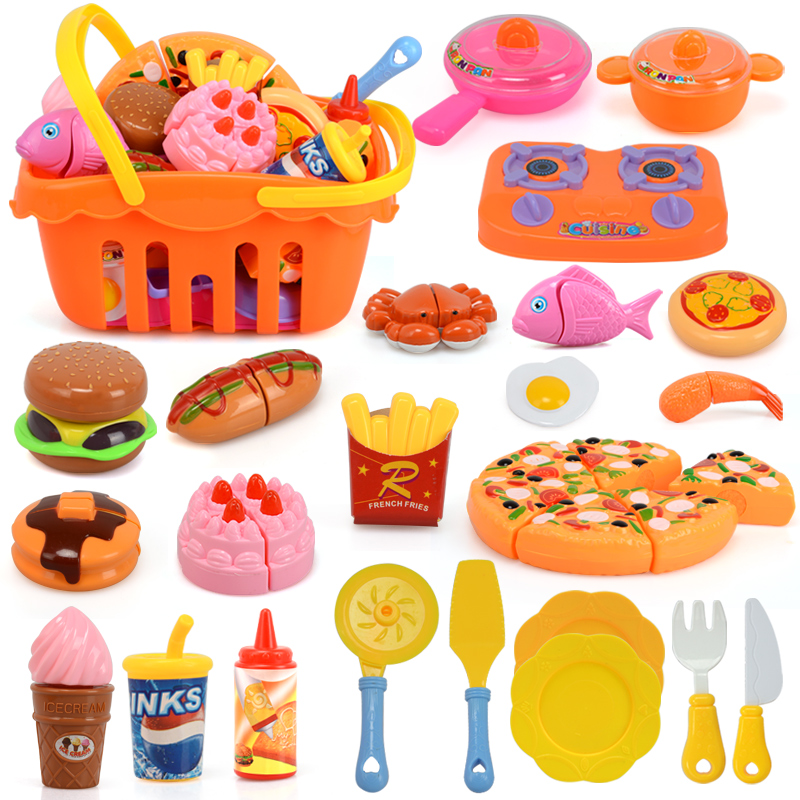 unids nios miniatura de alimentos pan set de cocina para nios de plstico de corte de pizza de pizza pastel de nias juegos