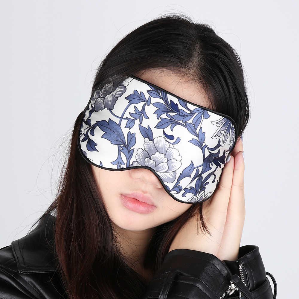 1 ชิ้นแฟชั่นผ้าไหมใหม่ Soft Sleep Eye Mask ดอกไม้พิมพ์ Sleeping Soft แว่นตาท่องเที่ยวหน้ากากผ้าพันคอ Sleep Aid สุขภาพ care Eye Patch