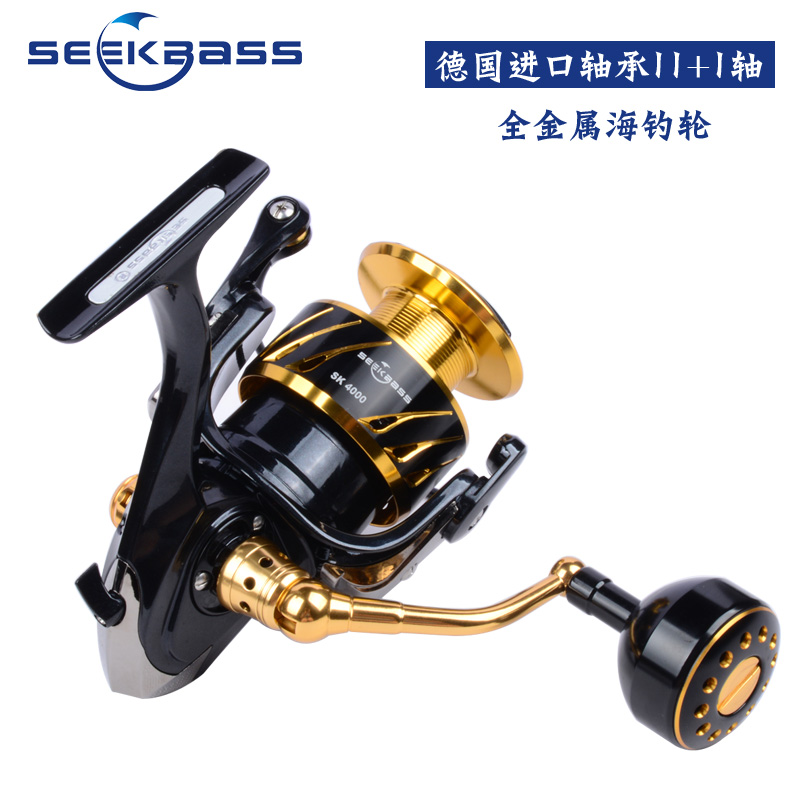 SeekBass New product Japan made SK4000 SK10000 Full Metal Spinning Jigging Reel Spinning reel 12BB Alloy reel 30kg drag power in Fishing Reels from Sports Entertainment