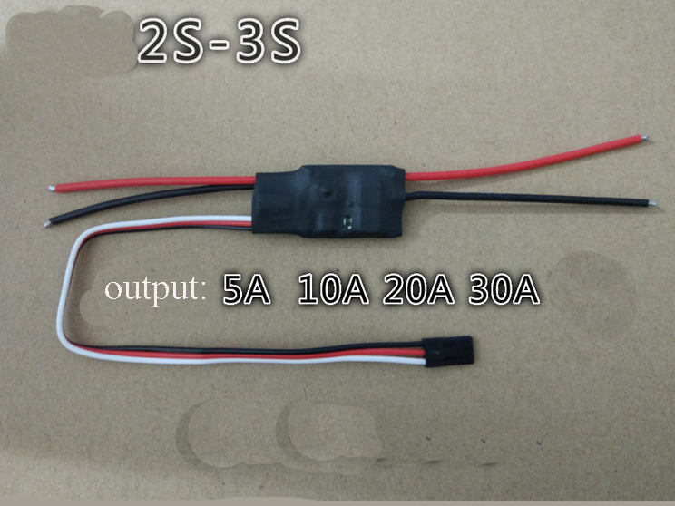 1PC 2S 3S One-way DC <font><b>Brushed</b></font> <font><b>ESC</b></font> High Power 5A 10A 20A <font><b>30A</b></font> with BEC Electric Speed Controller Regulator for RC Fixed Wing Quad image