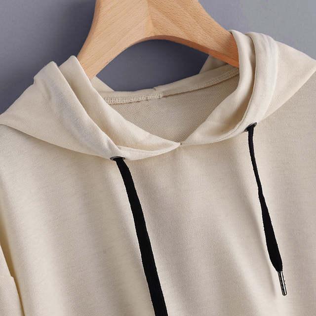 8184e4cd64 Letras Impressas Mulheres Streetwear Cropped Moletom Feminino Pullover 2017  Outono Roupas Moleton Feminino Com Capuz #121 em Hoodies & Camisolas de  Roupas ...