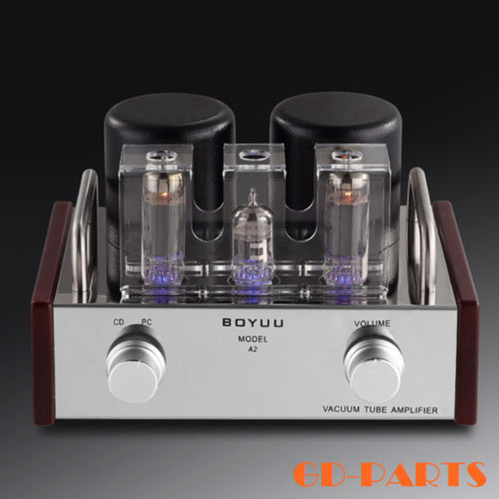 GD-PARTS 2x3.6W Stereo Single End EL84+12AX7 Vintage Tube Amplifier Chass A HIFI Audio Valve AMP Stainless+Wood Chassis appj pa1501a 6ad10 mini tube amplifier hifi desktop home audio 3 5w 3 5w gd parts valve tube amp 1pc
