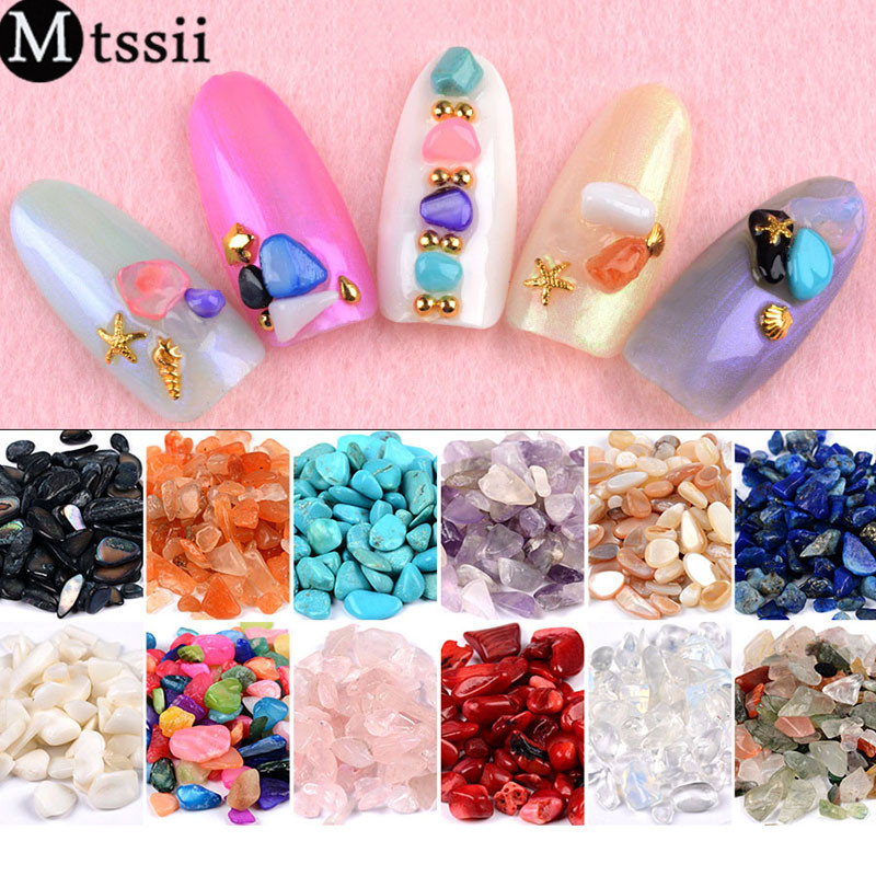 Mtssii 12 Colors Irregular Stone Nail Art Decoration 3D Tips Crystal Rhinestone Gems Manicure Supplies DIY Jewelry Accessories blingbling nail glitter ab crystal glass nail art caviar beads 3d pixie mermaid nail tips manicure decoration