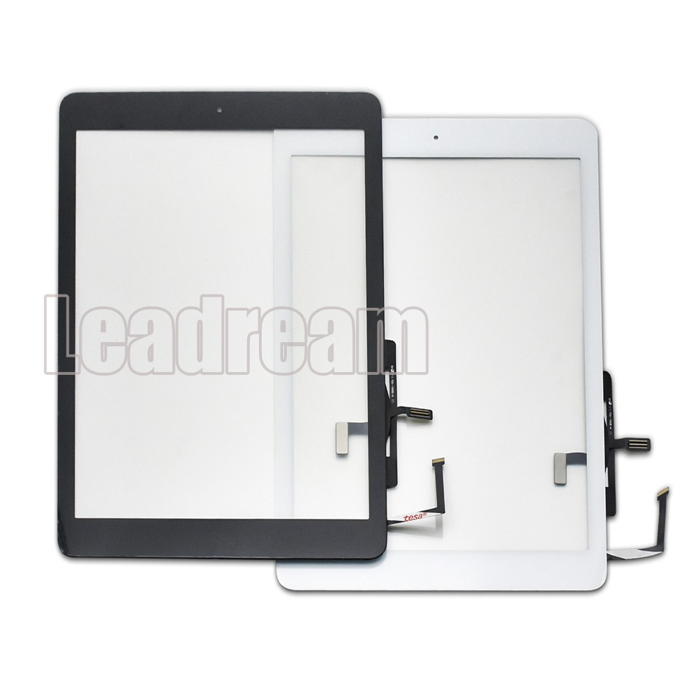 10pcs DHL Original Touch Screen Digitizer for iPad Air 1 includes Home Button Camera holder Adhesive