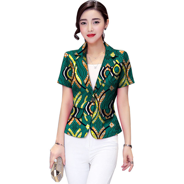 4a152f30bc Fashion African Print Women Suit Jacket Africa Festive Ladies Short Sleeve Blazers  Jacket For Party Cutomize Africa Clothing