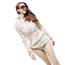 Beach Tunic Sexy Swimwear Cover Up For Women Beach Cover Ups Crochet Pareo Bathing Suit Cover Ups Summer Female Hollow Swimsuit