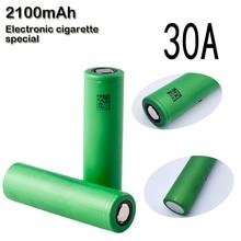 2 unids/lote us18650vtc5 original 18650 3.7 v 2100 mah de alto consumo 30a vtc4 batería para sony electonic cigarrillo vaporizador baterías